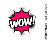 wow comic style message in red...   Shutterstock .eps vector #1659557071