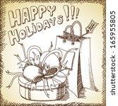 vector christmas background | Shutterstock .eps vector #165955805