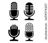 vintage radio microphone vector ...   Shutterstock .eps vector #1659574207