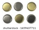 set new bottle cap for beer... | Shutterstock . vector #1659637711
