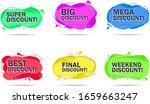 set of abstract trendy discount ... | Shutterstock .eps vector #1659663247