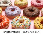 Delicious Glazed Donuts On Pin...