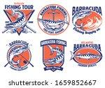 set of barracuda fishing badge... | Shutterstock .eps vector #1659852667