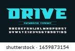 futuristic alphabet design ... | Shutterstock .eps vector #1659873154