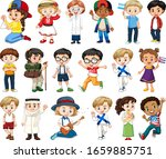 large set of boys and girls... | Shutterstock .eps vector #1659885751