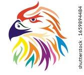 falcon logo in color vector ... | Shutterstock .eps vector #1659894484