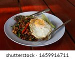 rice topped with stir fried... | Shutterstock . vector #1659916711