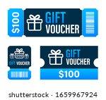 promo code. vector gift voucher ... | Shutterstock .eps vector #1659967924