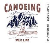 canoeing. illustration of wild... | Shutterstock .eps vector #1659968437