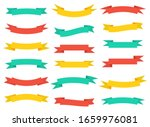 set of banners of colored... | Shutterstock . vector #1659976081
