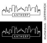antwerp skyline. linear style....   Shutterstock .eps vector #1659994924