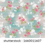seamless  flower pattern...   Shutterstock . vector #1660011607
