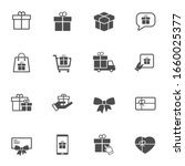 gift box solid vector icons....