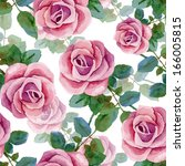 seamless background with roses. ...   Shutterstock .eps vector #166005815