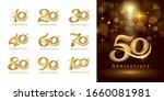 set of anniversary logotype... | Shutterstock .eps vector #1660081981