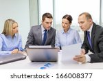 business  technology and office ... | Shutterstock . vector #166008377