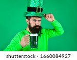 St. patrick's day. bearded man...