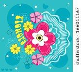 beautiful flower background...   Shutterstock .eps vector #166011167