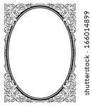 calligraphy penmanship oval... | Shutterstock .eps vector #166014899