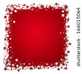 christmas frame. white and red... | Shutterstock . vector #166015064