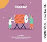flat illustration of ramadan...