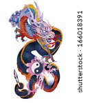 traditional asian dragon...   Shutterstock .eps vector #166018391