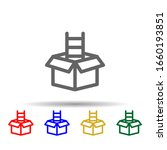 box ladder multi color style...