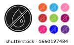 black no oil drop icon isolated ... | Shutterstock .eps vector #1660197484