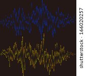 halftone round vector elements... | Shutterstock .eps vector #166020257