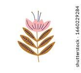 modern folk boho single... | Shutterstock .eps vector #1660229284