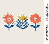 modern folk boho single... | Shutterstock .eps vector #1660229317