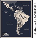 map latin america. poster map... | Shutterstock .eps vector #1660230421