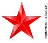 Shiny Five Pointed Red Star....