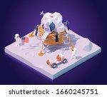 vector isometric astronauts on... | Shutterstock .eps vector #1660245751