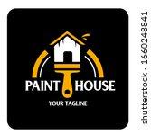 painting logo template design... | Shutterstock .eps vector #1660248841