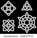 celtic knots collection for... | Shutterstock .eps vector #166027511