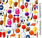 seamless pattern with sport...   Shutterstock .eps vector #1660293571