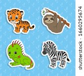 Set Of Bright Color Stickers....
