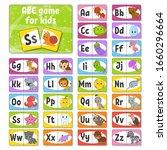 set abc flash cards. alphabet... | Shutterstock .eps vector #1660296664