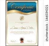 certificate template   Shutterstock .eps vector #166034321