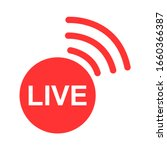 live streaming icon. modern...
