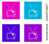 tv icon . simple outline vector ...