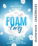 summer foam party flyer... | Shutterstock .eps vector #1660386181