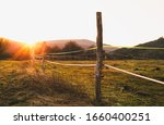 Landscape Photo Of Wooden Fence ...