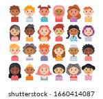 set of avatars of children... | Shutterstock .eps vector #1660414087
