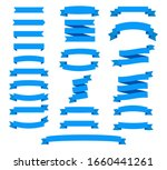 set of blue ribbons for design  ... | Shutterstock .eps vector #1660441261