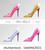 Set Of Ladies Disco High Heels...
