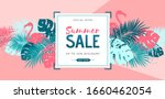 summer sale poster with tropic... | Shutterstock .eps vector #1660462054