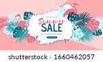 summer sale poster with tropic... | Shutterstock .eps vector #1660462057