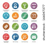 seo   internet marketing icons  ... | Shutterstock .eps vector #166047377